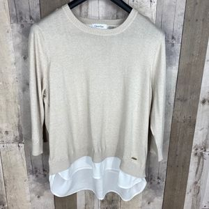 3/$25🛍️ Calvin Klein Pullover Layered Sweater
